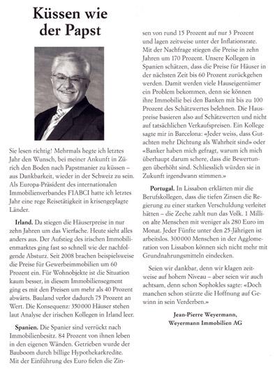 Jean-Pierre Weyermann - Kolumne